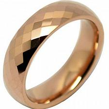 Buy coi Jewelry Tungsten Carbide Faceted Wedding Band Ring