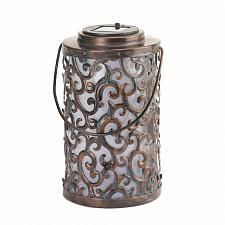 Buy *16222U - Garden Gate Swirls & Flourishes Solar Lantern