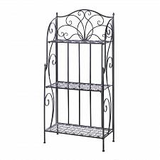 Buy *16168U - Divine Flourish Black Cast Iron Baker's Rack