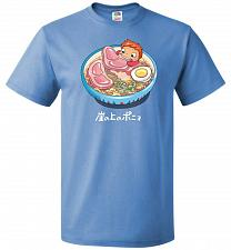 Buy Noodle Swim Unisex T-Shirt Pop Culture Graphic Tee (L/Columbia Blue) Humor Funny Nerd