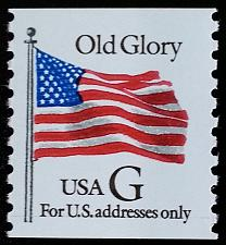 "Buy 1994 32c ""G"" Old Glory, Coil Scott 2889 Mint F/VF NH"