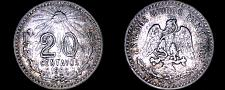 Buy 1906 Mexican 20 Centavo World Silver Coin - Mexico - Lot#9961
