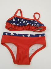 Buy Baby Girls OP Tiered Ruffle Patriotic Stars Bikini Swimsuit Swimwear