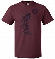 Buy Anunnakin Unisex T-Shirt Pop Culture Graphic Tee (4XL/Maroon) Humor Funny Nerdy Geeky