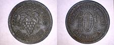 Buy ND c.1918 French 10 Centimes Notgeld World Coin De L'Herault France World War I