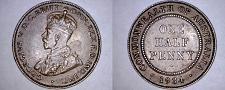 Buy 1934 Australian Half (1/2) Penny World Coin - Australia
