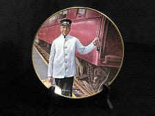 Buy Train Collector Plate Ted Xaras Men of the Rails Pullman Porter Vintage