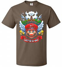 Buy Retro Mario 64 Tribute Adult Unisex T-Shirt Pop Culture Graphic Tee (4XL/Chocolate) H
