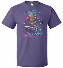 Buy Dj Groot Unisex T-Shirt Pop Culture Graphic Tee (XL/Purple) Humor Funny Nerdy Geeky S