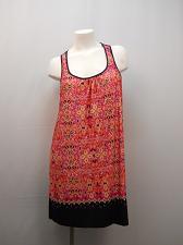 Buy Womens Chemise SIZE L SECRET TREASURES Multi Color Paisley Lace Trim Straps