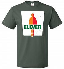 Buy 0-Eleven Unisex T-Shirt Pop Culture Graphic Tee (3XL/Forest Green) Humor Funny Nerdy