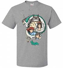 Buy Ghibli Unisex T-Shirt Pop Culture Graphic Tee (2XL/Athletic Heather) Humor Funny Nerd