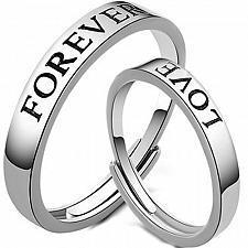 Buy coi Jewelry Platinum White Titanium Forever Love Wedding Band Ring