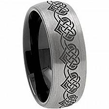 Buy coi Jewelry Tungsten Carbide Dome Heart Wedding Band Ring