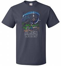 Buy Alien Wars Unisex T-Shirt Pop Culture Graphic Tee (2XL/J Navy) Humor Funny Nerdy Geek