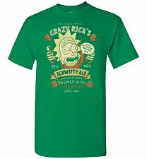 Buy Crazy Rick's Schwifty Ale Unisex T-Shirt Pop Culture Graphic Tee (L/Turf Green) Humor