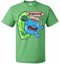 Buy Meseeks Man Unisex T-Shirt Pop Culture Graphic Tee (L/Kelly) Humor Funny Nerdy Geeky