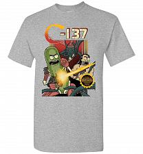Buy C-137 Schwifty Squad Unisex T-Shirt Pop Culture Graphic Tee (5XL/Sports Grey) Humor F
