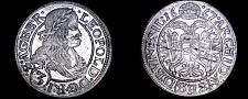 Buy 1667-SHS German States Silesia 3 Kreuzer World Silver Coin - Leopold I