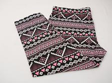 Buy Sueded Capri Leggings Pink Tribal Super Soft Sueded Women SIZE 2XL Inseam 22