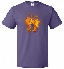 Buy Praise The Sun Art Unisex T-Shirt Pop Culture Graphic Tee (L/Purple) Humor Funny Nerd