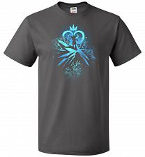 Buy Face of The Key Blade Unisex T-Shirt Pop Culture Graphic Tee (3XL/Charcoal Grey) Humo
