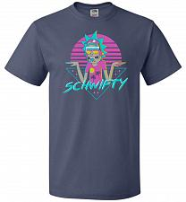 Buy Rad Schwifty Unisex T-Shirt Pop Culture Graphic Tee (L/Denim) Humor Funny Nerdy Geeky
