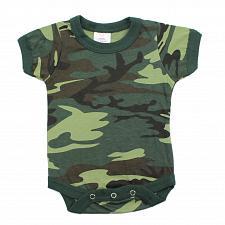Buy One Piece Woodland Camo Army Law Enforcement Military Infant Bodysuit