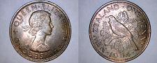 Buy 1964 New Zealand 1 Penny World Coin - Tui Bird - Lot#9869
