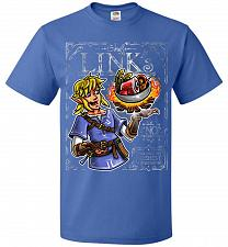 Buy Chef Link Cooking Lights Adult Unisex T-Shirt Pop Culture Graphic Tee (S/Royal) Humor