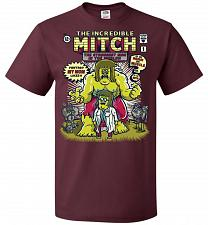 Buy Incredible Mitch Unisex T-Shirt Pop Culture Graphic Tee (3XL/Maroon) Humor Funny Nerd