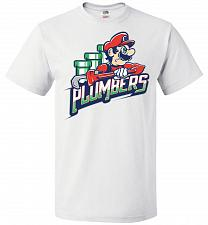 Buy Plumbers Unisex T-Shirt Pop Culture Graphic Tee (3XL/White) Humor Funny Nerdy Geeky S