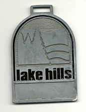 Buy Golf Bag Tag Golf Club Member Fob Lake Hills Billings Montana Rare VTG