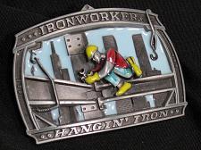 Buy Ironworkers Belt Buckle Hanging Iron