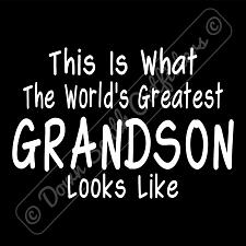 Buy Worlds Greatest Grandson T Shirt Birthday Fathers Day Gift (16 Tee Colors)