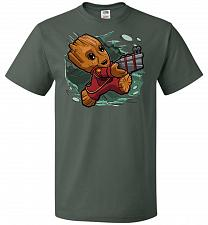 Buy Tiny Groot Unisex T-Shirt Pop Culture Graphic Tee (4XL/Forest Green) Humor Funny Nerd