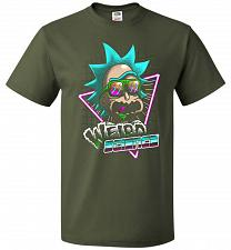 Buy Rick's Weird Science Unisex T-Shirt Pop Culture Graphic Tee (6XL/Military Green) Humo