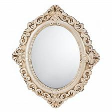 Buy *17058U - Vintage Estate Ivory Wood Hanging Wall Mirror