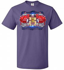 Buy Red Ranger Unisex T-Shirt Pop Culture Graphic Tee (S/Purple) Humor Funny Nerdy Geeky