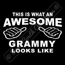 Buy This Is What An Awesome Grammy Looks Like T-shirt (16 Tee Colors)