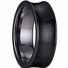 Buy coi Jewelry Black Tungsten Carbide Ring - TG1242(Size:#US6.5)