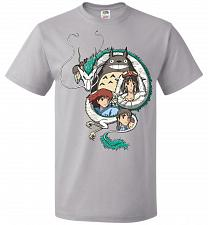 Buy Ghibli Unisex T-Shirt Pop Culture Graphic Tee (6XL/Silver) Humor Funny Nerdy Geeky Sh