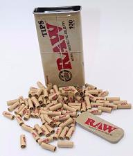 "Buy 100 Tips RAW Pre Rolled TIPS IN A KING SIZE Slide Top Storage TIN ""RAWthentic"""