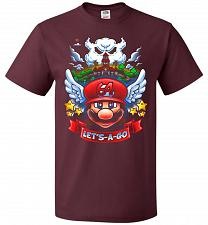 Buy Retro Mario 64 Tribute Adult Unisex T-Shirt Pop Culture Graphic Tee (6XL/Maroon) Humo