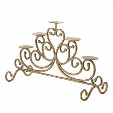 Buy *15541U - Antiqued Cast Iron Candleabra Stand 5 Pillar Candle Holder