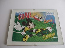 Buy Mickey Mouse And Goofy Playing Soccer Framed Puzzle Wall Art