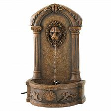 Buy 13055U - Lion's Head Courtyard Stone Look Water Fountain Yard Art