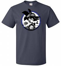 Buy Saiyan Quest Unisex T-Shirt Pop Culture Graphic Tee (S/J Navy) Humor Funny Nerdy Geek