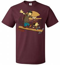 Buy Just the 2 of Us Unisex T-Shirt Pop Culture Graphic Tee (XL/Maroon) Humor Funny Nerdy