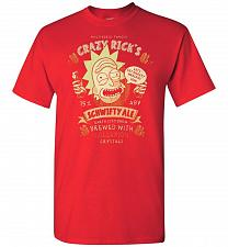 Buy Crazy Rick's Schwifty Ale Unisex T-Shirt Pop Culture Graphic Tee (4XL/Red) Humor Funn